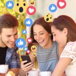 Reações do facebook e conteúdo on-line